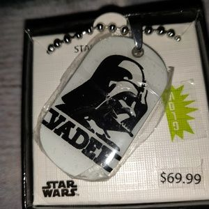 💮Star Wars Disney NWT Darth Vader dog tag